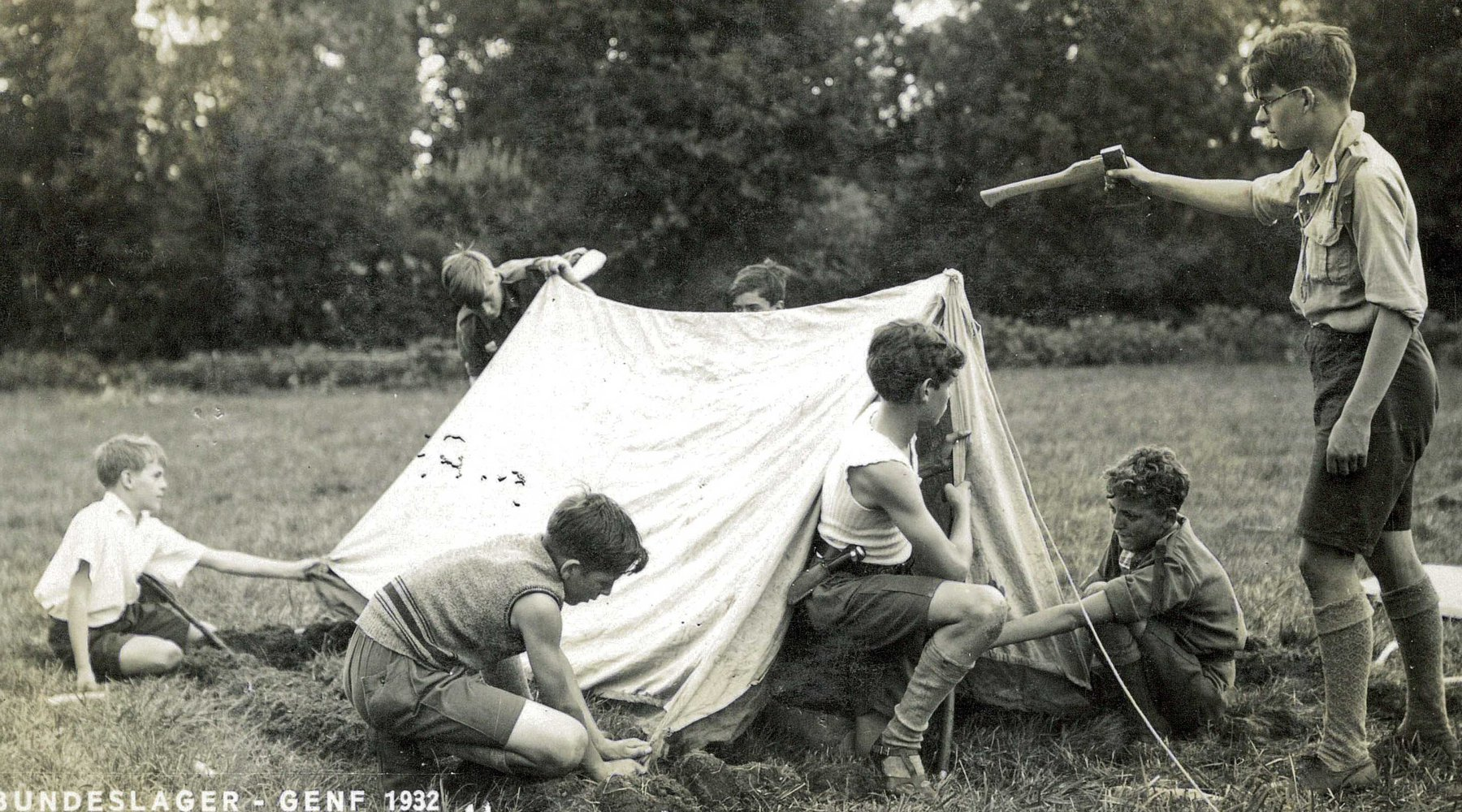Tent at the 1932 national camp in Geneva