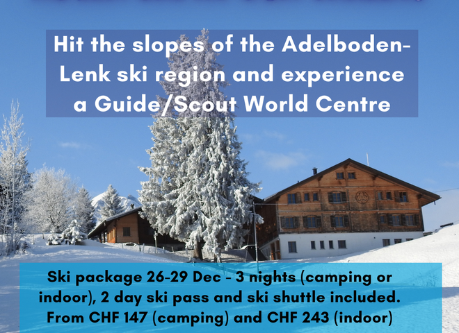 Our Chalet Adelboden: December offer for Swiss Scouts